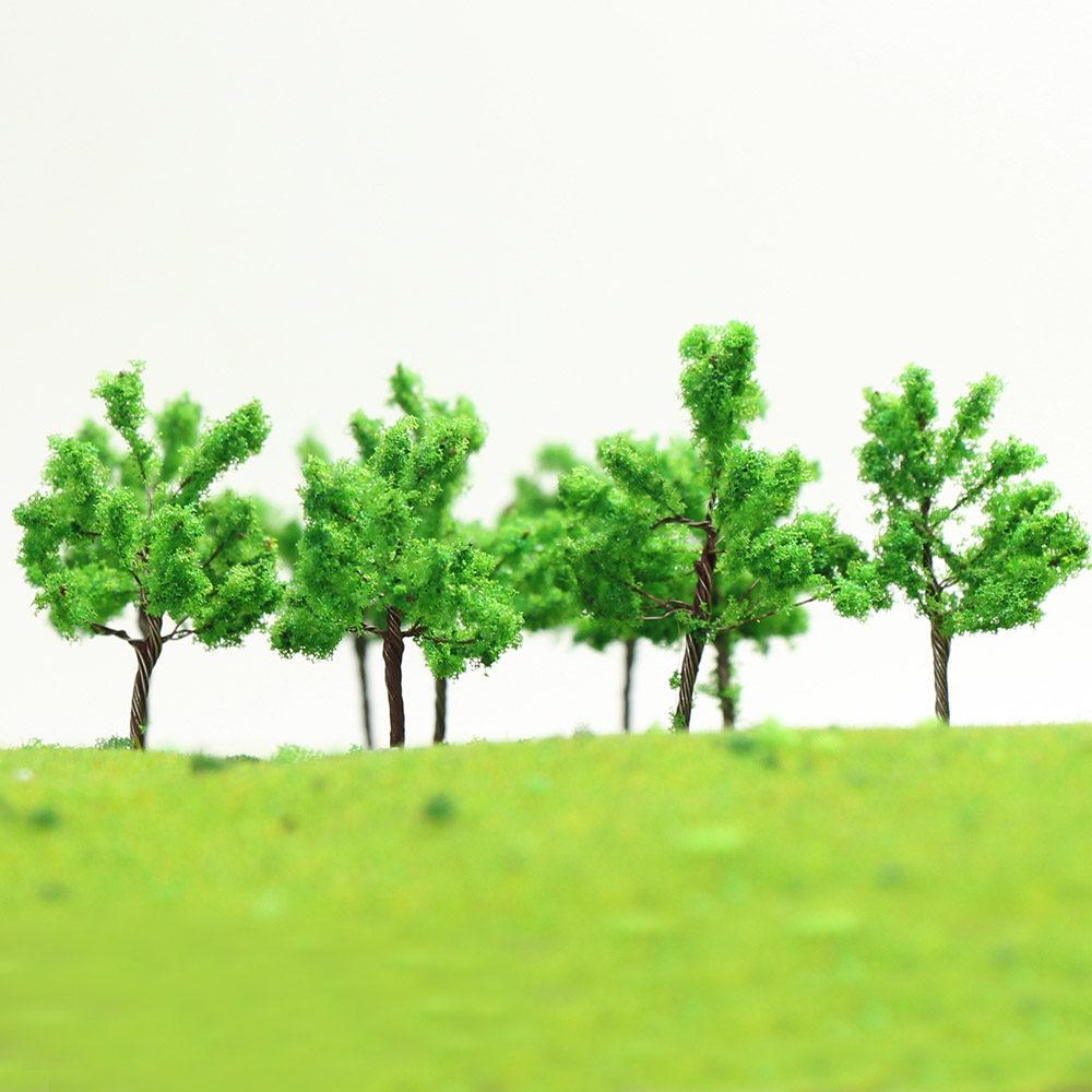 D4524 200pcs Scale Train Layout Set Model Trees N 45mm
