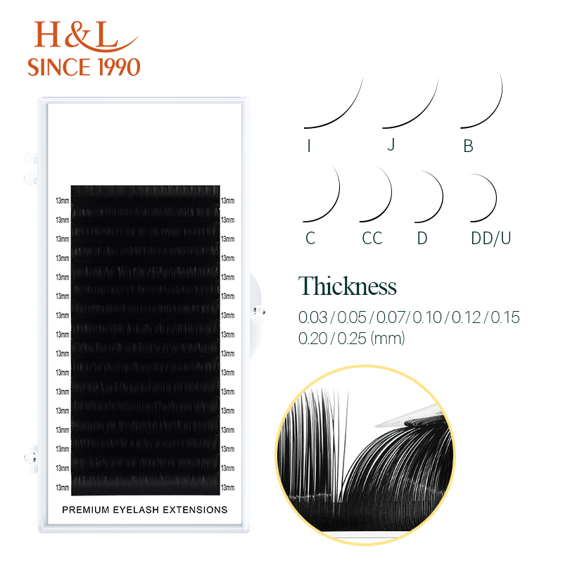 H&L SINCE 1990 16Rows Faux mink individual eyelash extensions for professionals soft mink matte lash 1
