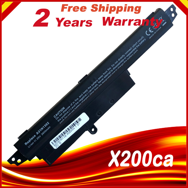 Laptop Battery A31N1302 For ASUS <font><b>X200CA</b></font> A31LM2H A31LM9H A3INI302 1566-6868 X200M X200MA <font><b>X200CA</b></font> R202CA F200CA image