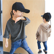 Sweatshirts Hoody Pullovers Loose-Style Baby-Boys Tracksuit Girls Kids Cotton And Solid
