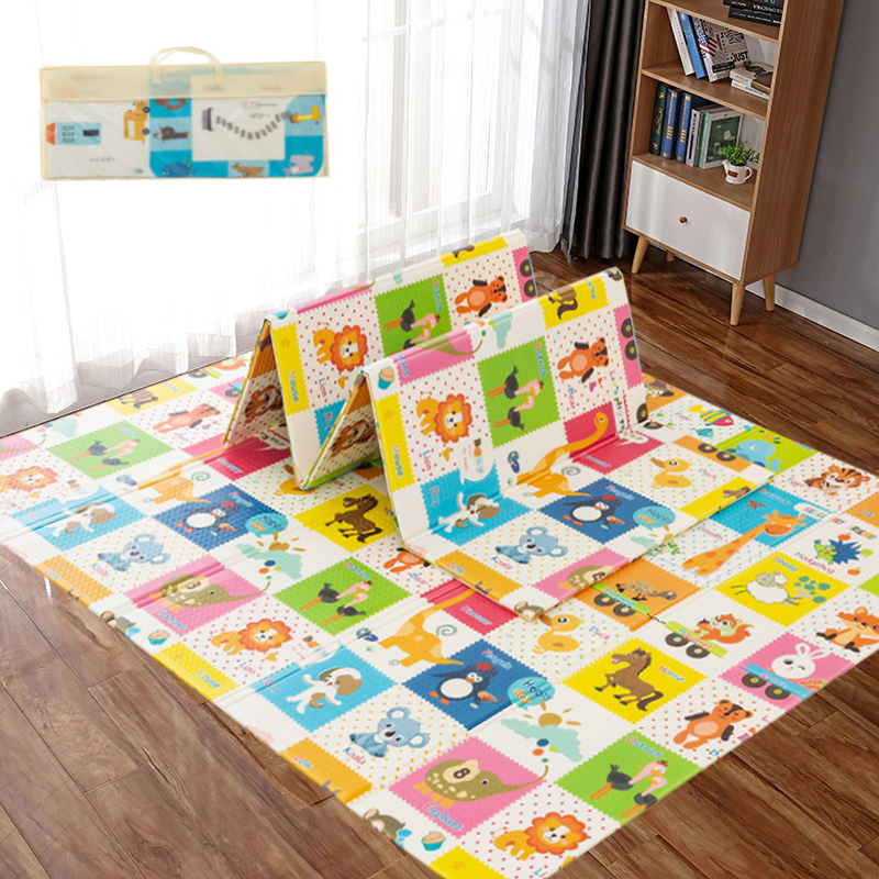 Foldable Crawling Carpet Kids Game Activity Rug Folding Blanket Educational Toys Baby Play Mat Waterproof XPE Soft Floor Playmat