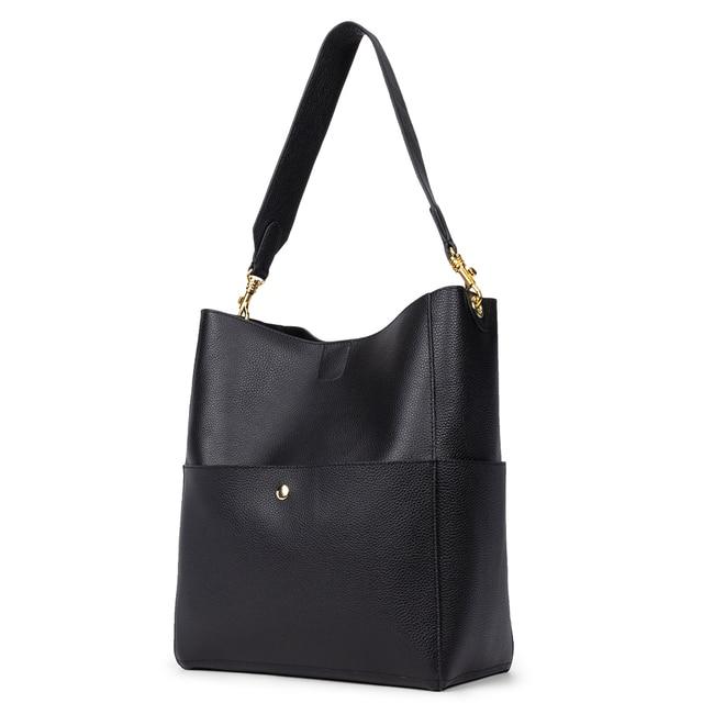 Gionar rfid genuíno bolsa de couro real designer bolsa para as mulheres balde tote macio camada superior crossbody ombro saco trabalho 2