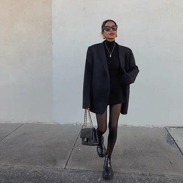 DIRTYLILY 2020 New Fashion Solid Color Lapel Blazer Women Elegant Vintage Casual Loose Temperament Coat Tide 1