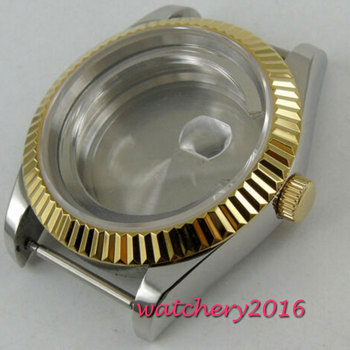 36mm steel sapphire glass automatic Watch Case fit ETA 2824 2836 8215 MOVEMENT