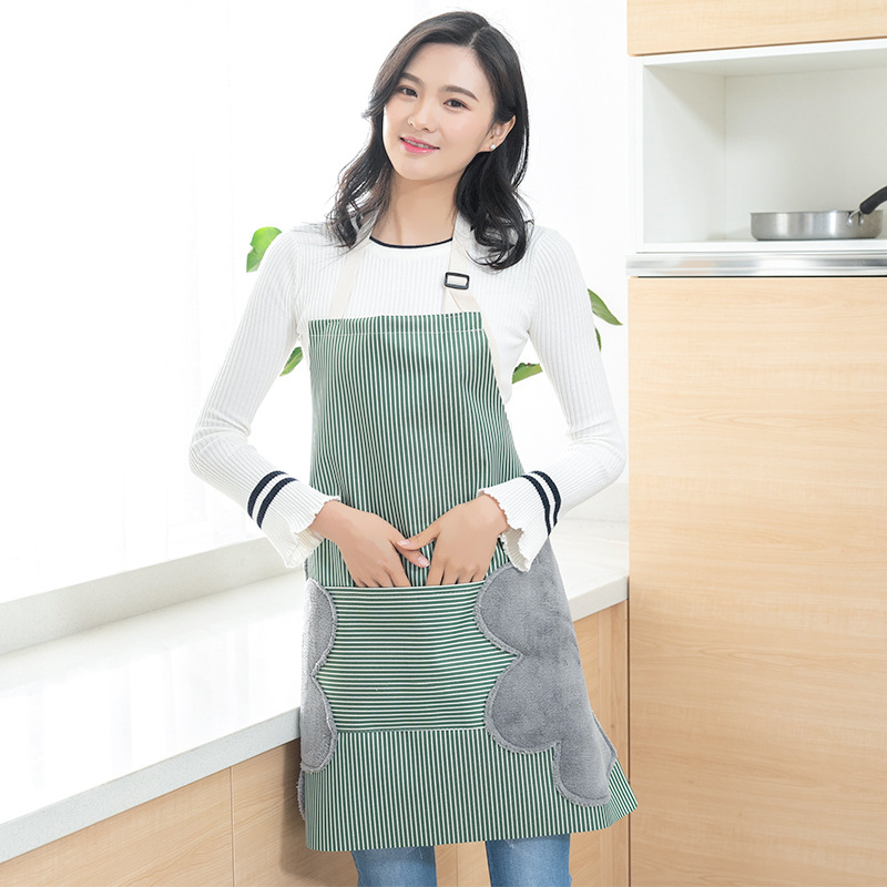 Multi-functional Kitchen Apron Oil Proof Water Resistant Apron With Pockets FDC99