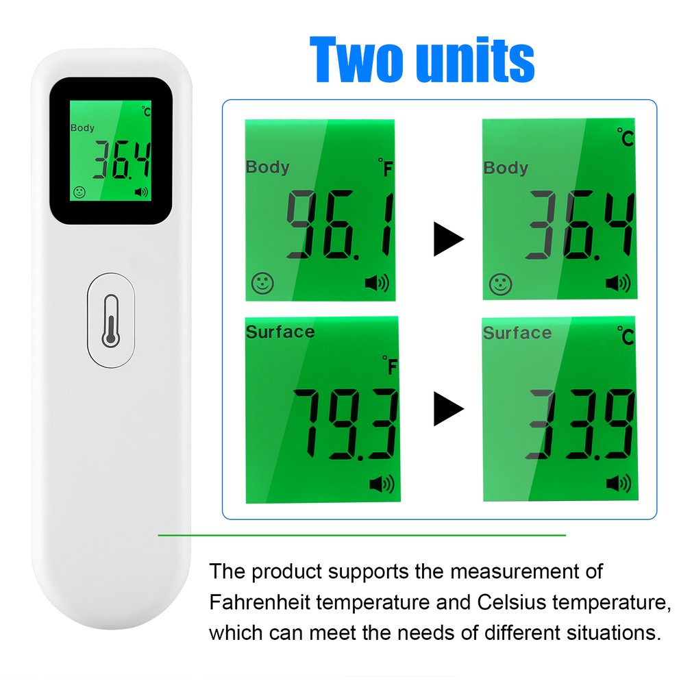 Non-contact Temperature Measurement Device Multi-functional Digital Thermometers Infrared Forehead Termometer Tool