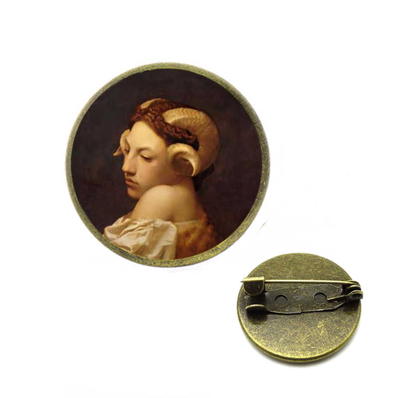 Girl Wearing Pearl Johannes Vermeer Brooches Artist Jean Leon Gerome Art Painting Brooch Collection Interior of A Mosque Jewelry
