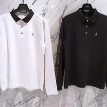 Nouveau printemps golf manches longues chemises pour hommes amant golf vêtements marque & lona chemises de golf à séchage rapide respirant vêtements de golf