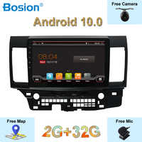 10.1 inch IPS 2.5 Screen Autoradio 2G+32G For Mitsubishi Lancer 2006-2016 Android 10.0 Free External Mic Camera Canbus Map