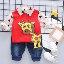 Autumn Hot Sale Baby Cute Boy Long Sleeve Geometric Print T-