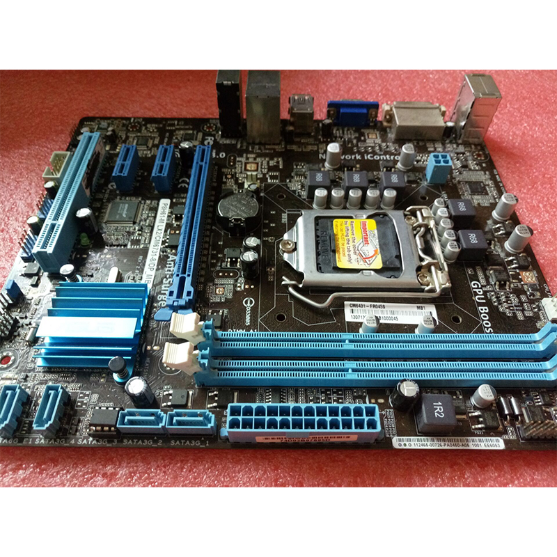 For ASUS P8H61-M LX2 Desktop motherboard MB Intel H61 LGA 1155 micro ATX DDR3 16GB SATA3.0 USB2.0 100% fully Tested 2