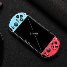 """NIEUWE 32/64/128 Bit 5.1 """"LCD X7 plus Dubbele rocker 8G Handheld Retro Game Console video MP5 voor 10000 games Kunnen besparen game vooruitgang"""