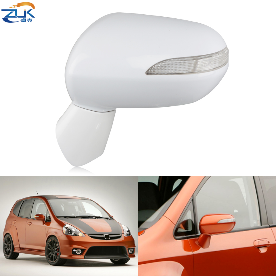 ZUK Car Exterior Door Rearview Mirror For HONDA FIT JAZZ 2005-2008 GD1 GD3 For CITY 2007-2008 GD6 GD8 5-PINS With Turn Signal