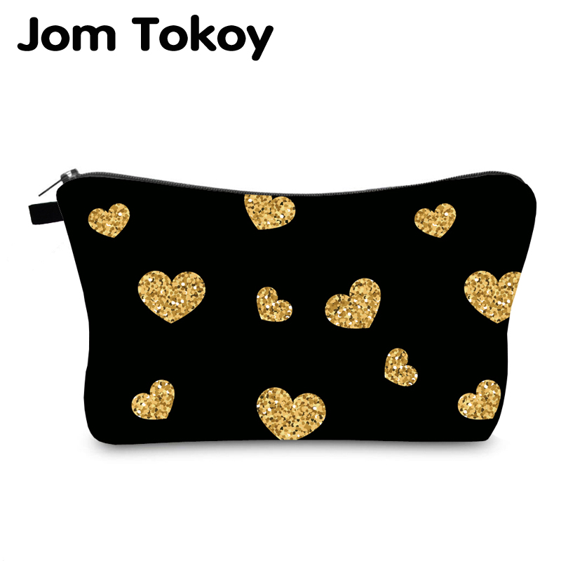 Jom Tokoy Cosmetic Bag Printing Loving Heart Personalised Makeup Bags Organizer Bag Women Beauty Bag