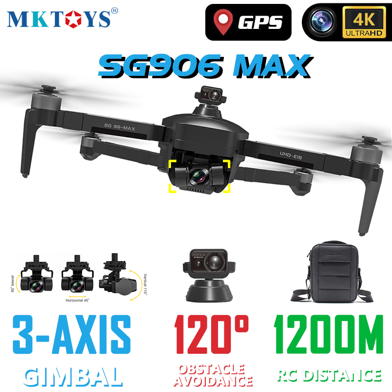 MKTOYS GPS 4K Drone Professional SG906 MAX RC Quadcopter 3-Axis Gimbal Camera 120° Obstacle Avoidance FPV Brushless Quadrocopter 2