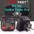 Hadotest ht106d soquete tester teste de tensão soquete detector plugue da ue zero linha terra polaridade verificação fase