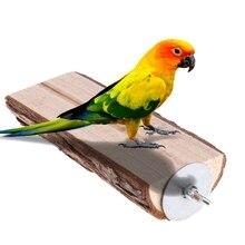 Попугай окунь птица клетка игрушка деревянная подставка держатель клетка стойка платформа Белка Шиншилла