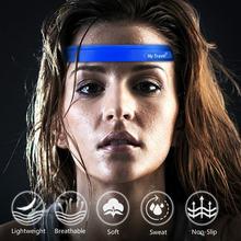 Нескользящая спортивная повязка на голову для мужчин женщин
