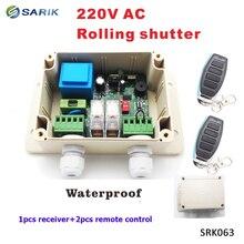 Receptor de Motor inalámbrico con persianas enrollables de 220V para mando a distancia para puerta de garaje, receptor de 2 canales Universal 1 x RECEPTOR + 2 x mando a distancia