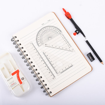 цена на 7pcs Compasses Pencil Drafting Set Student with Multi-function Compass Ruler School Exam Drawing Professional Drawing Tools