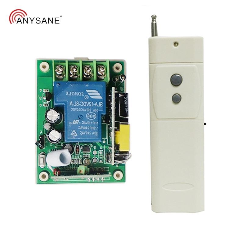 Interruptor de luz interruptor de controle remoto Sem Fio 433 interruptor do relé remoto AC220V 30A 3000m aprendizagem rf remoto controle de Rádio remoto