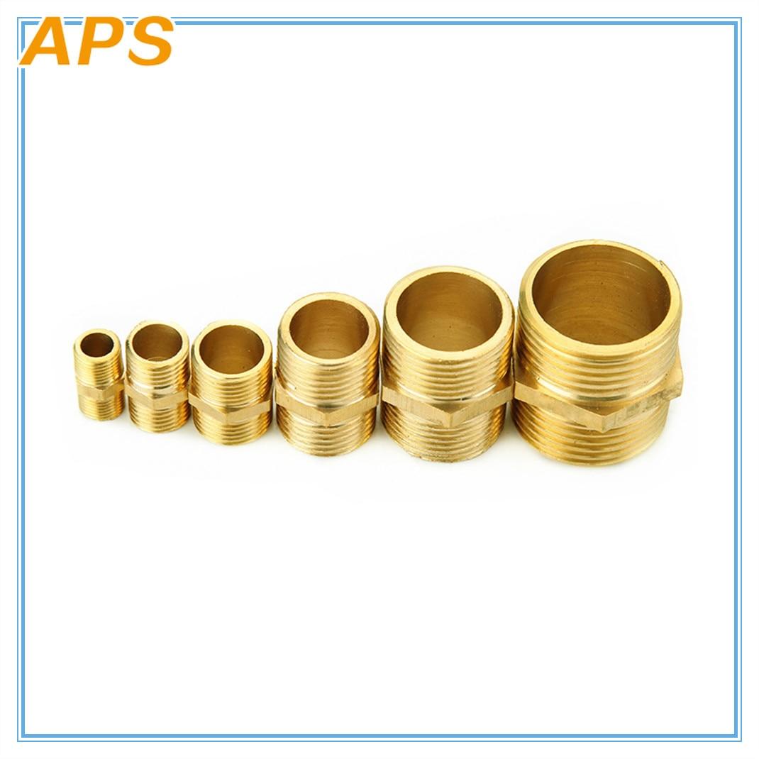 Hexagon Brass Pipe Fitting Hex Nipple M/M 1/8