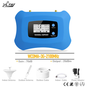 2020 Full Intelligent LCD display 3G 2100MHz signal Repeater cellular signal booster amplifier work for Russia..etc Asia,Europe