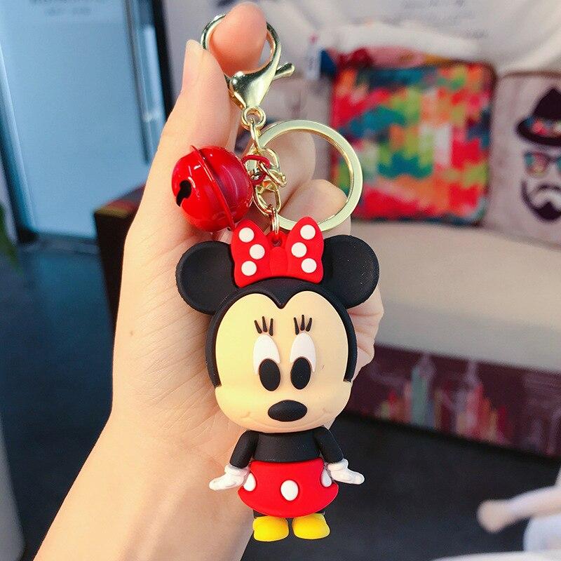 Cartoon Mickey Minnie Keychain Lanyard Cute Baby Bear Doll Keychains For Women Bag Charm Pendant Car Key Ring Beautiful Gifts