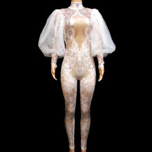 Женский кружевной комбинезон Стразы розового цвета с длинными