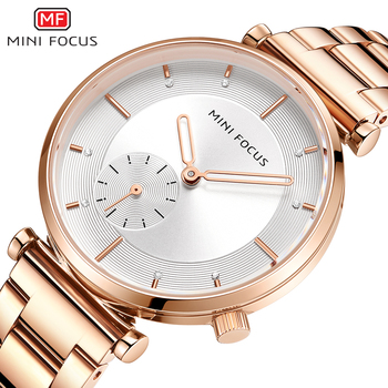 MINIFOCUS Women Watches Rose Gold