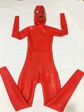 איש מלא כיסוי 1.0mm כבד לטקס בגד גוף עם הוד תפור לפי מידה