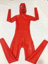 Costume de sport en latex lourd avec capuche, couverture complète pour hommes, 1.0mm