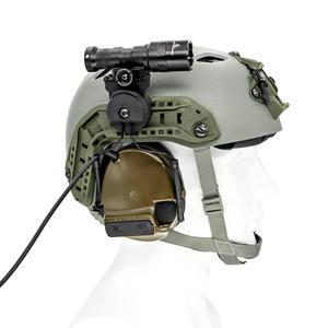 Image 5 - Outdoor Jacht Tactische Zaklamp Gemonteerd Op De Helm Beugel Geschikt Tactische Beugel Helm Arc Spoor Adapter Bk