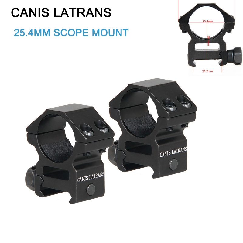 Canis Latrans Scope Mount for 1 Inch Tube 21.2mm Rail Picatinny Weaver Medium Profile Rings(Set of 2) gs24-0120B image