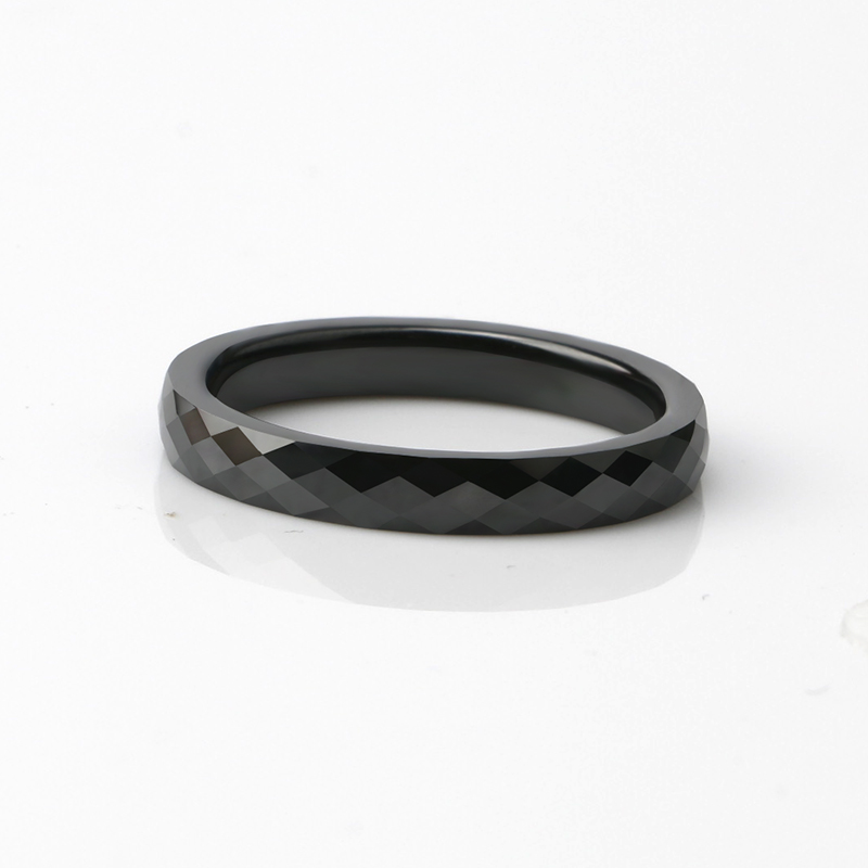 Geometric Cut Ceramic Ring Jewelry Rings Women Jewelry