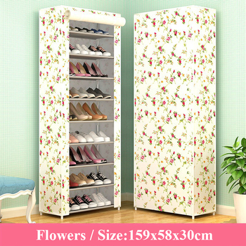 Multiple Layer Shoe Cabinet Nonwoven Fabric Saving Space Organizer Rack Modern Assemble for Home Furniture - discount item  20% OFF Home Furniture