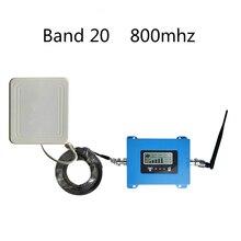 אירופה 4G מגבר אות להקת 20 LTE 800MHz נייד אותות בוסטרים טלפון סלולרי מגבר נייד