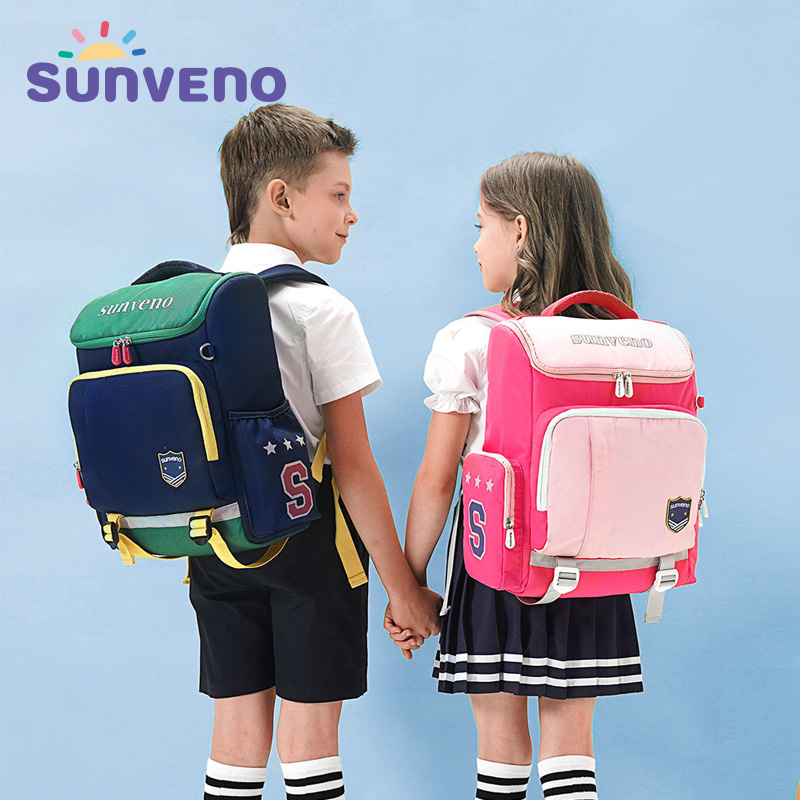 Sunveno Kids Backpack Children School Bag Teenager Waterproof  School Backpack With Reflective Strip For Boys And Girls
