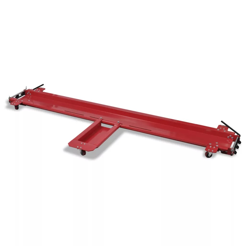 VidaXL Motorcycle Dolly Red Motorcycle Stand Heavy Duty Shifting Frame Machine Large Row Moving Car Mobile Cart Platform