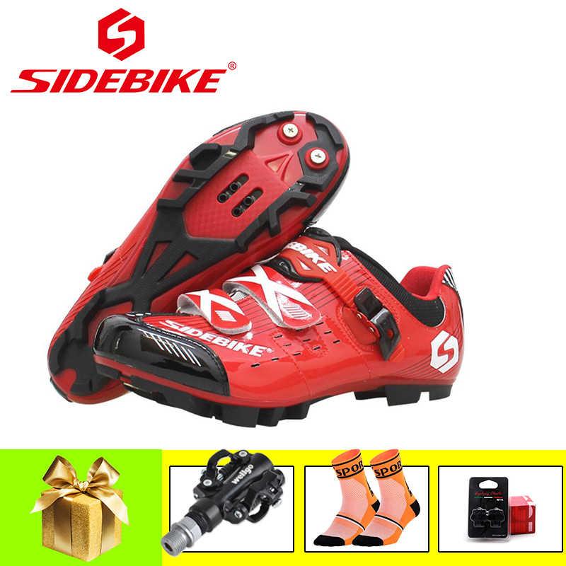 SIDEBIKE pro ciclismo zapatos montaña bicicleta scarpe ciclismo mtb ultraligero spd pedales hombres mujeres atléticos superstar zapatillas