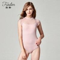 Dancer Lace Basic Ballet Leotard for Women High neck Sleeveless Stretch Leotards Open back Adult Bodysuit Dance Wear