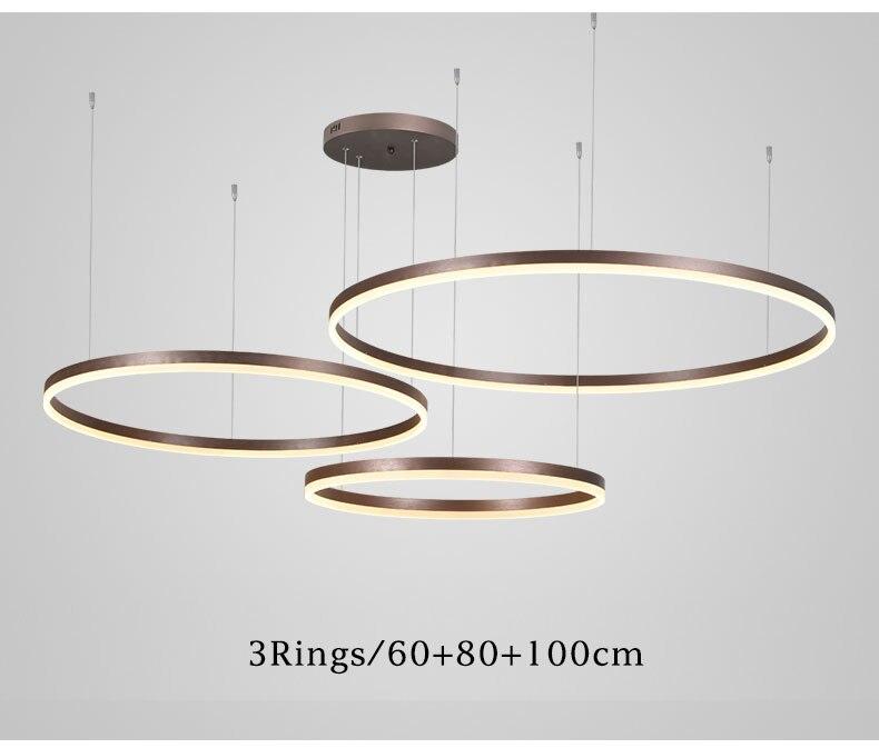 luzes acrílico forma redonda iluminação lustre lamparas deco deth luminárias