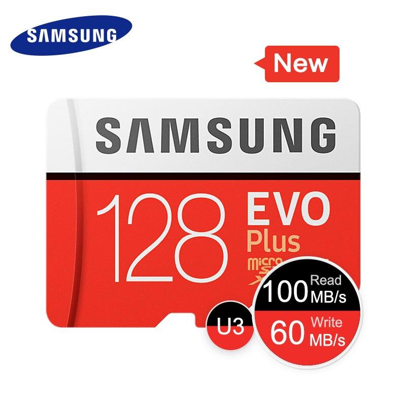 Samsung micro sd 256gb 128gb 64gb 32gb evo mais cartões microsd cartão de memória evo + sdhc sdxc max 100 m/s c10 tf trans flash 512gb