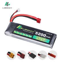 Limskey – Batterie Lipo, 7.4 V, 5200 mAh, 30c, 2S, 7.4 V, 5200 mAh, 1P, Lithium-polymère, pour voiture RC