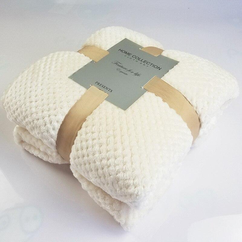 Super Soft Warm Blanket Flannel Sofa Office Children Blanket Towel Travel Fleece Throw Portable Car Travel Cover Blanket