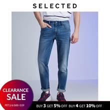 SELECTED Men's Slim Fit Stretch Cotton-blend Jeans