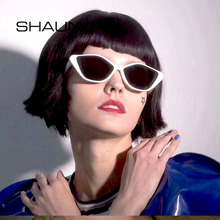 SHAUNA Ins Popular Small Cat Eye Sunglasses