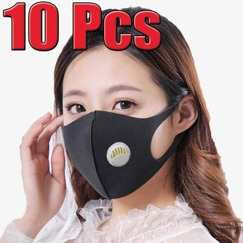 10 Pcs Face Mouth Mask Anti-Infection Virus Unisex Activated Carbon Filter Mouthmask Anti-dust Mouth Facemask Washable Reusable