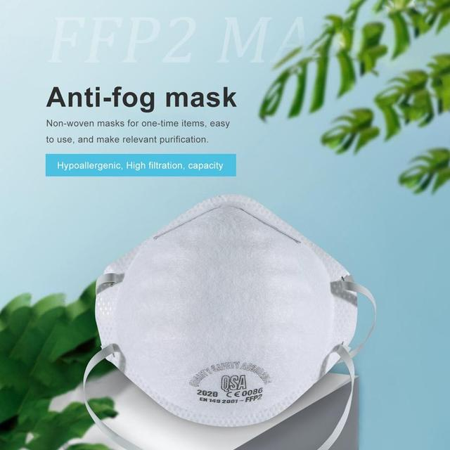 FFP2 MASK with FFP2 filter, effective filtering 95% bacteria anti-PM2.5 protective mask, prevent flu