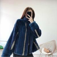 2020 Real Mink Fur Coat Women Winter Natural Fur Jacket Korean Clothes Fashion Luxury Mink Jacket Manteau Femme Hiver 928 KJ3659